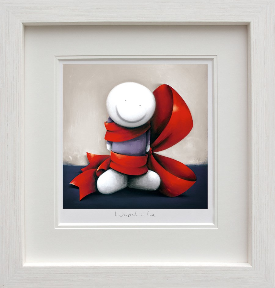 Wrapped in Love by Doug Hyde - Limited Edition on Paper sized 12x12 inches. Available from Whitewall Galleries
